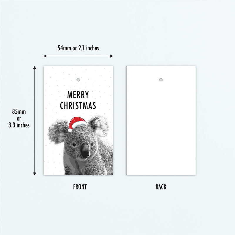 Australian Animals Christmas Gift Tags, Pack of 10