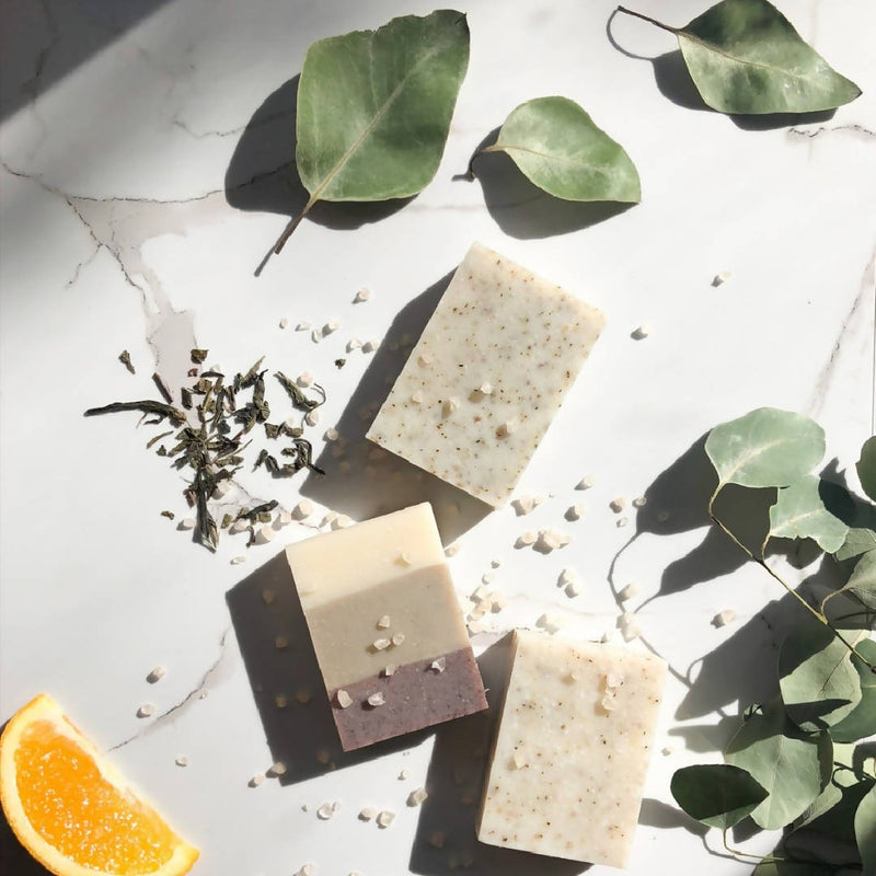Delux Trio (Pine Forest, Peppermint & Sea Salt, Seaweed & Moss) Soap Box