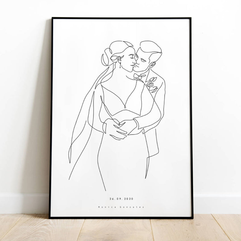 Custom line art portrait illustration | Minimalistic style