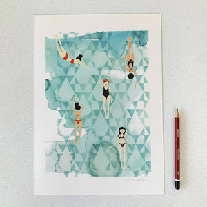 Winter Swim Limited Edition Print