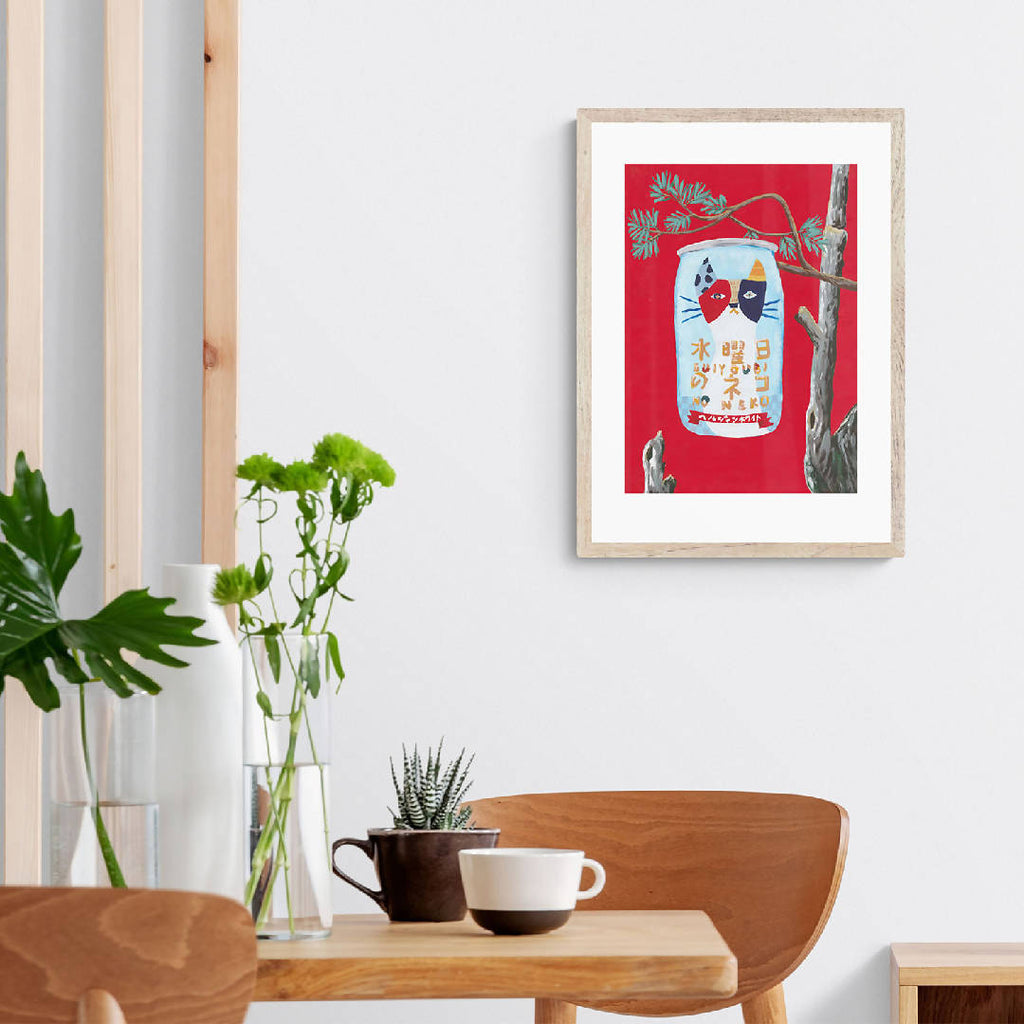 Wednesday Cat Art Print