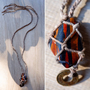 Tigers Iron Macrame Necklace