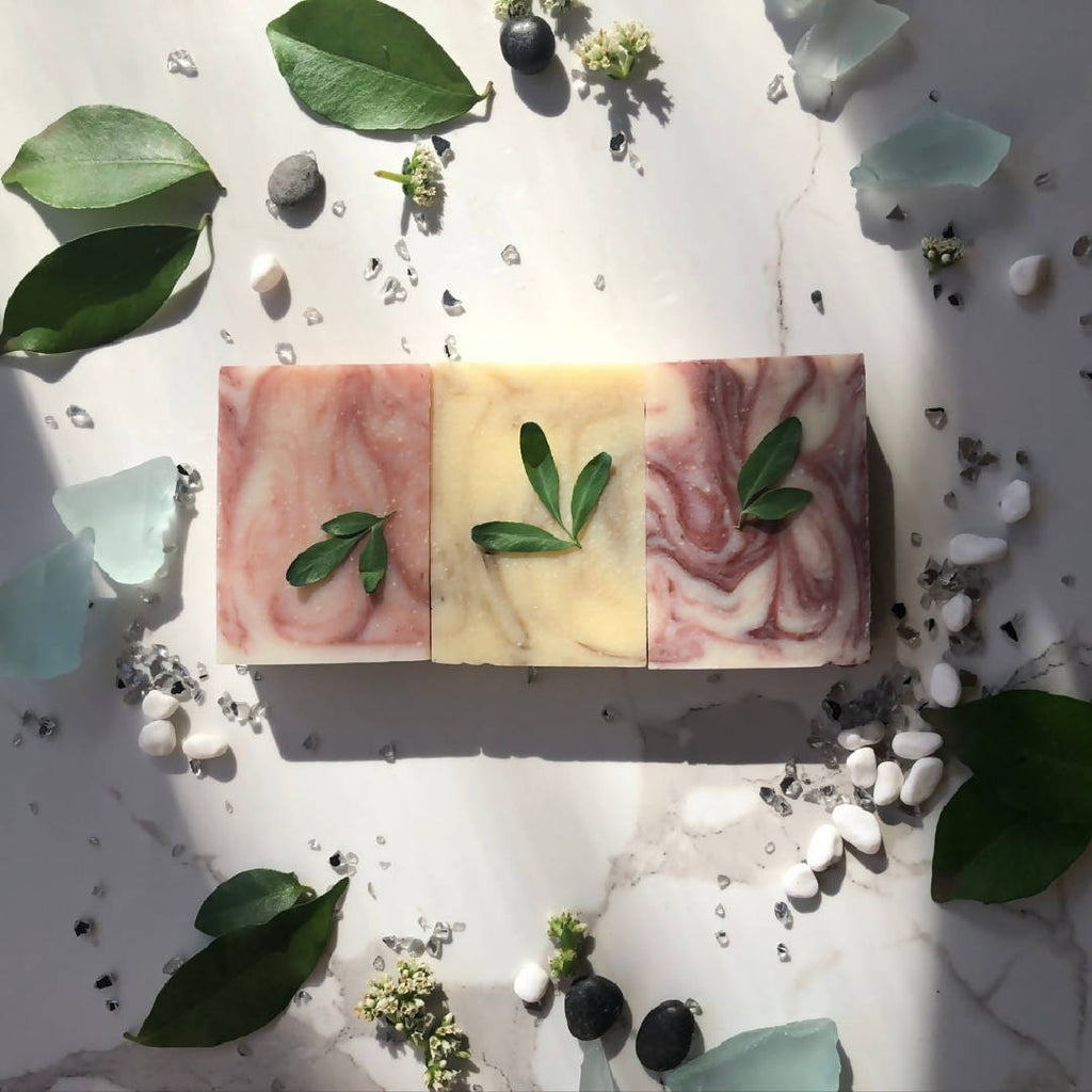 Clay Trio (Pink, Green & Red Clay) Natural Soap Gift Box