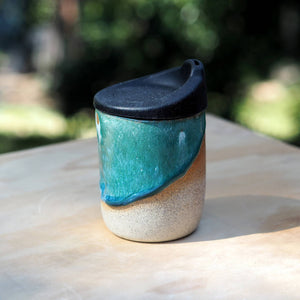 Reusable clay cup - Sage