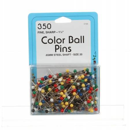 Color Ball Head Pin Size