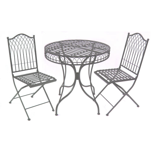 HAMPTON BISTRO SET 3 Piece - Umber Grey