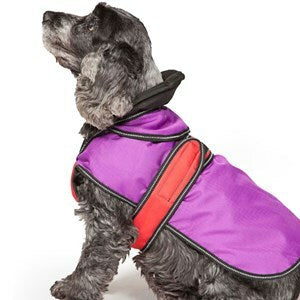 Danish Design - 2-in-1 Four Seasons Dog Coat Purple - 12'' / 30cm