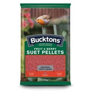 Bucktons Fruit & Berry Suet Pellets  - 12.55kg