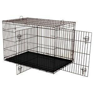 Dogit 2 Door Black Dog Crate - Large