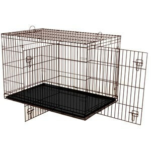 Dogit 2 Door Black Dog Crate - Medium