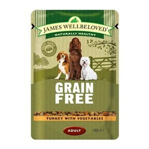 James Wellbeloved Dog Adult Turkey GF Pouches 12x100g - Outer