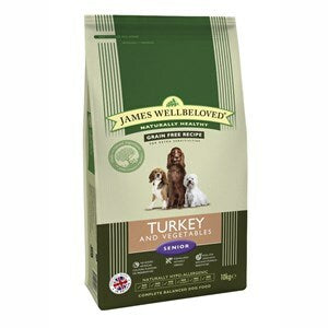 James Wellbeloved Dog Senior Turkey & Veg Grain Free  - 10 kg