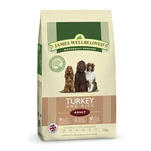 James Wellbeloved Dog Adult Turkey & Rice - 7.5 kg