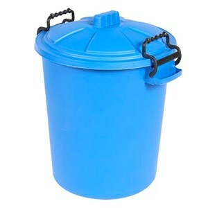 Heavy Duty Dustbin & Lid with Clip Blue  - 50 L