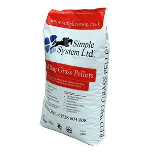 Simple System Red Bag Grass Pellets  - 20 kg