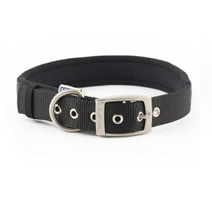Ancol Nylon Padded Collar Black - Various Sizes
