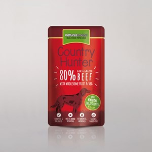 Natures Menu Country Hunter Dog Pouch Beef 3x 6x150g