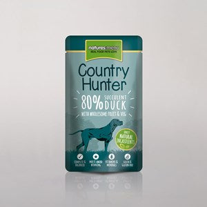 Natures Menu Country Hunter Dog Pouch Duck 3x 6x150g
