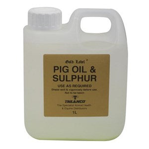 Pig Oil and Sulphur for Horses - 4.5 L
