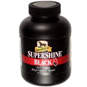Absorbine Supershine Hoof Polish Black - 237 ml