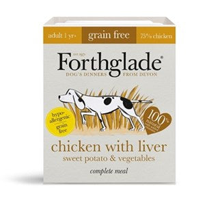 Forthglade Complete Adult Grain Free Chicken Liver 18x 395g