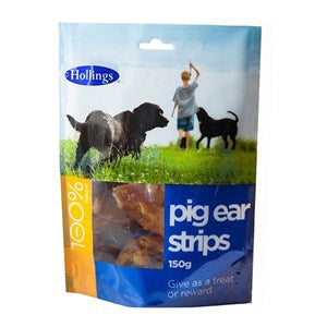 Hollings Pig Ear Strips 8x150g