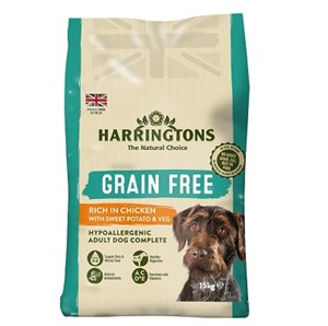 Harringtons Dog Grain Free Chicken & Sweet Potato - 15 kg