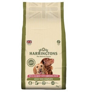 Harringtons Dog Beef & Brown Rice 4x2kg  - Outer