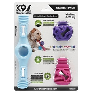 K9 Connectables Starter Pack Bl/Pu/Pi  - Medium
