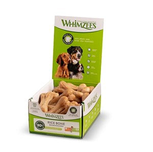 Whimzees Rice Bone Large Display Box x23