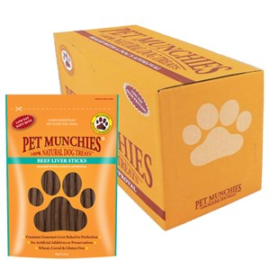 Pet Munchies Dog Beef Liver Sticks 8x90g