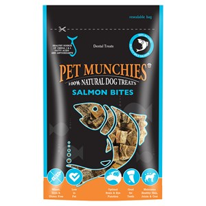 Pet Munchies Salmon Bites 8x90g