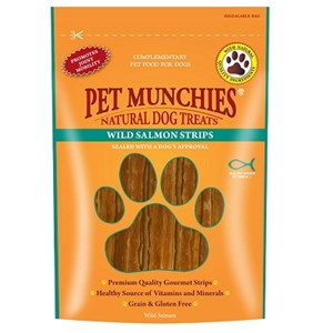 Pet Munchies Dog Treat Salmon Sticks 8x 80g