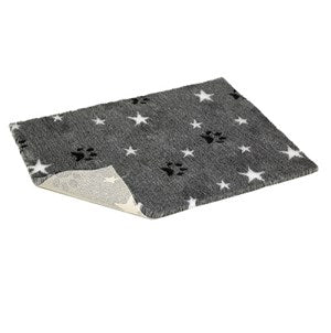 "Vetbed Grey Paws/Stars Nonslip 40x30""  - Single"