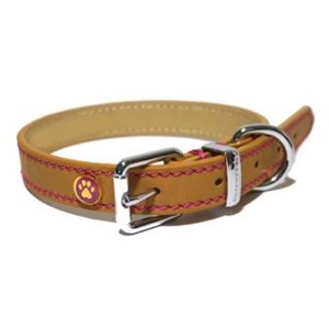 Lux Leather Tan Collar - Various Sizes