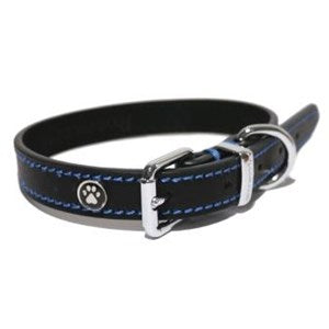 Lux Leather Black Collar - Various Sizes