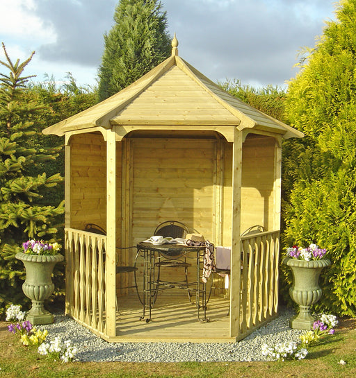 7' x 6' Pressure Treated Shire Garden Arbour