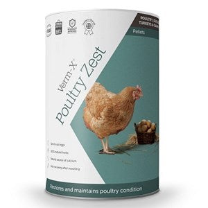 Verm X Poultry Zest Pellets for Poultry, Ducks, Geese, Turkeys & Game Birds  - 500 g