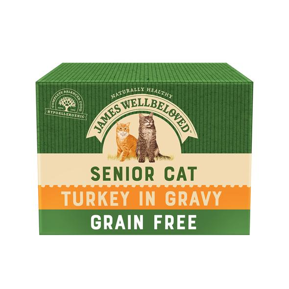 James Wellbeloved Grain Free Senior Cat Turkey Pouches - Multi-Pack