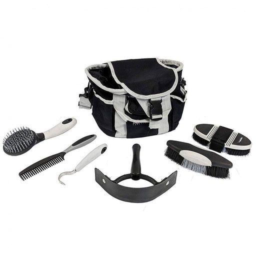 Perry Equestrian Complete 6 Piece Grooming Kit PLUS Bag - Various Colours