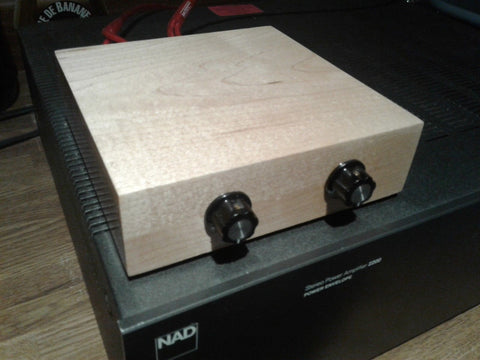 Passive Preamplifier Handmade & Soldered w Audiophile Silver Solder Maple Wood