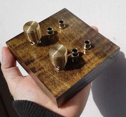 Small Passive Preamplifier - Handmade - Solid Maple Wood