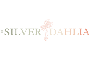 The Silver Dahlia colorful spring logo