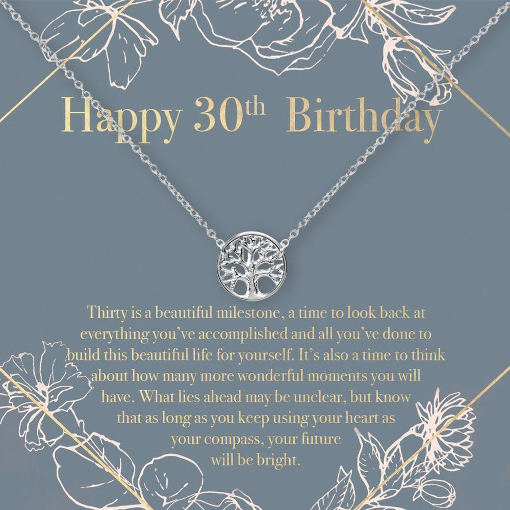 30th Birthday Necklace- Tree - The Silver Dahlia