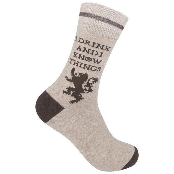 I Drink & I Know Things Socks