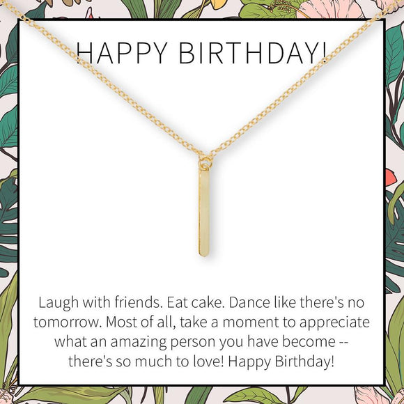 Happy Birthday Necklace