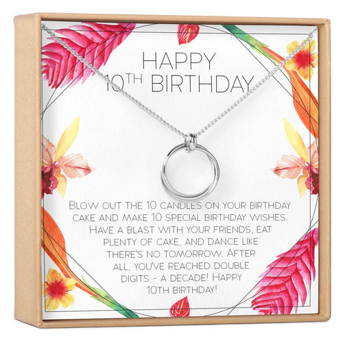 10th Birthday Necklace - The Silver Dahlia