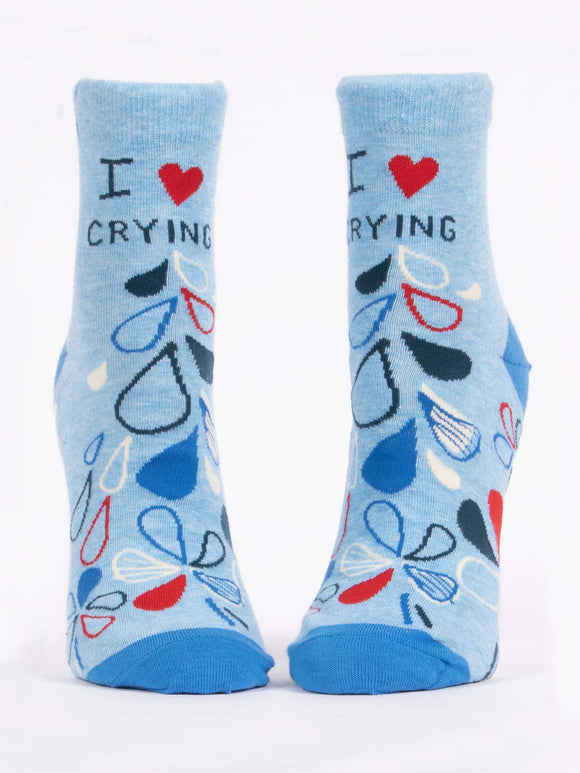 I Heart Crying Ankle Socks