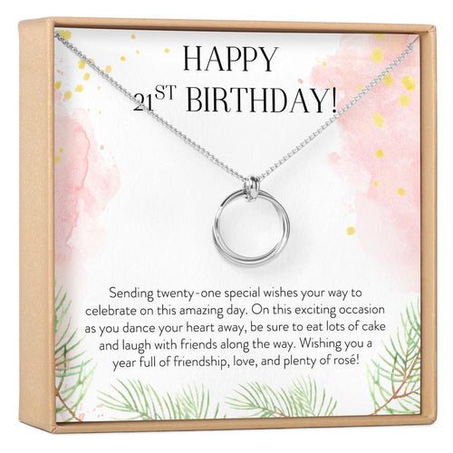 21st Birthday Necklace - The Silver Dahlia