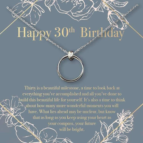 Happy 30th Birthday Necklace - The Silver Dahlia